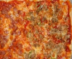 PIZZA CAMPERA Y DE SALCHICHAS