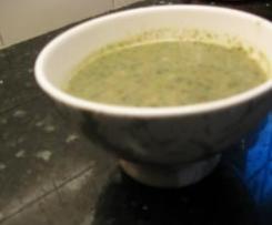 sopa de rucula y champiñones de dieta