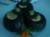 Calabacines rellenos con crema ligera de queso
