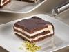 Tarta de chocolate y queso con pistachos
