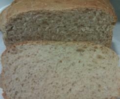 Pan de molde integral con avena