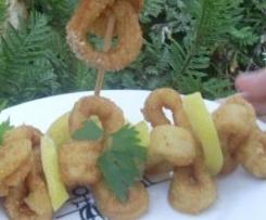 Anillas calamar al ajillo