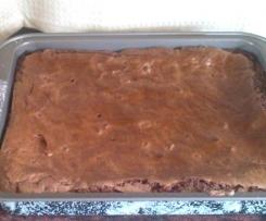 Variación de BROWNIES de chocolate  (sin gluten)