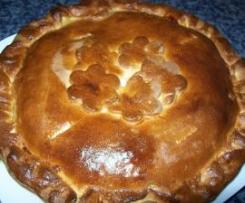 Empanada de manzana y crema