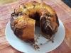 Bizcocho marmolado (cacao + mantequilla)