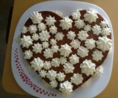 corazon de bizcoflan para san valentin