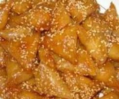 Briouats o pastelitos de almendras con miel (Triángulos árabes)