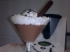 COPAS de chocolate con nata