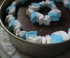 Tarta pitufa de chocolate( tarta para regalar de jacaranda)