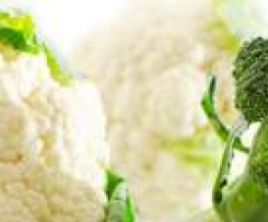 Bróculis y coliflor al vapor