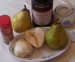 Menu completo: Salmonetes al papillot con salsa de mandarina; con patatas dado y panaché de verduras al vapor aliñadas con vinagreta de hierbas frescas y peras con canela regadas con vino de Oporto.