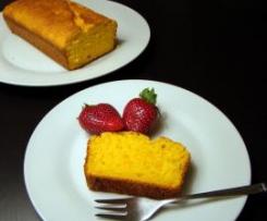 Bizcocho de naranja vegano y con muy poco azúcar