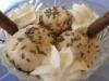 Helado de chocolate blanco caramelizado