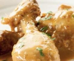 Muslos de Pollo al ajillo