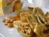 Alcachofas al vapor con salsa de almendras