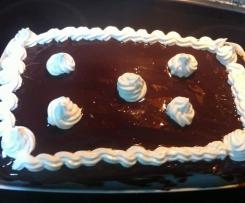 Tarta de crema pastelera con cobertura de chocolate (SIN GLUTEN)