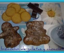 bizcocho de galleta y chocolate