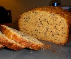 Pan de tomate, queso y orégano