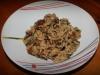 Revuelto de setas y arroz salvaje