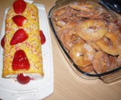 brazo de gitana relleno nata con fresas,receta copiada