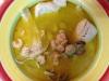 Merluza en salsa con gambas y almejas