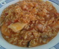 arroz caldoso de marisco y sepia