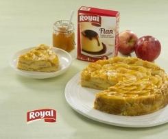 Tarta de manzana y flan Royal®