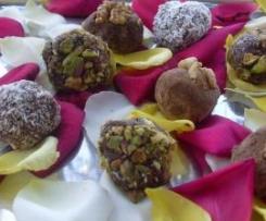 Trufas pistachos, mascarpone y amaretti