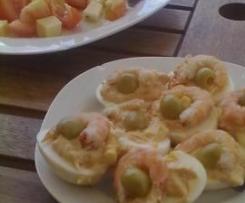 """Huevos rellenos de """"Mar"""""""