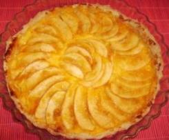 tarta manzana con un toque canario