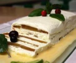 Tarrina de membrillo, queso y nata al aroma de menta de montaña