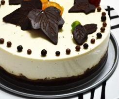 Tarta de cuajada y chocolate