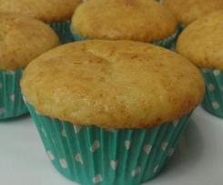 Muffins de chocolate blanco y leche condensada
