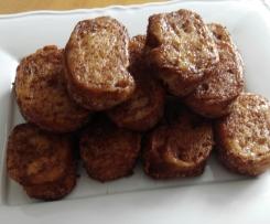 Torrijas en Varoma con Thermomix sin gluten, sin lactosa y poco azúcar.