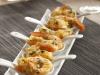 Cucharilla japonesa de langostinos al azafrán