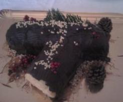 Tronco de navidad con crema de mantequilla y chocolate