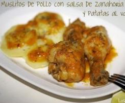 Muslos dePollo con Salsa de Zanahoria y Patatas en Varoma