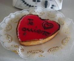 Galleta y crema de mascarpone para San Valentín en versión Corazón