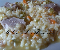 Atún fresco con arroz