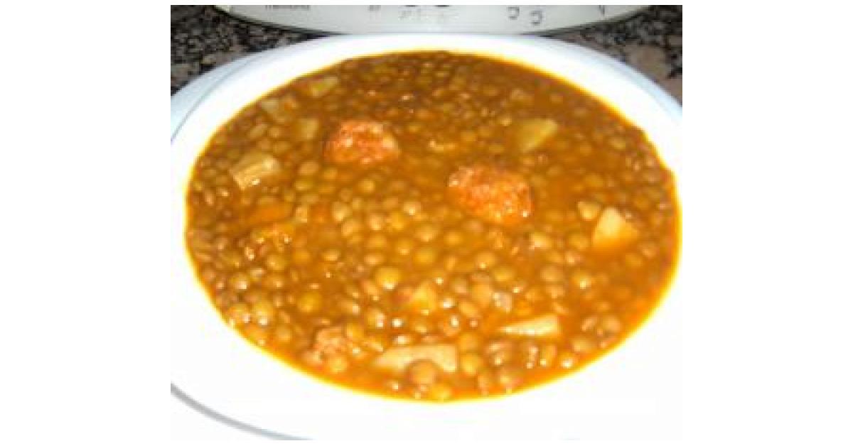 Lentejas con patata y chorizo por carmenaranda la receta de thermomix se encuentra en la - Lentejas con costillas y patatas ...