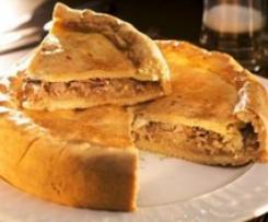 Timbal de ternera, jamón y mermelada de cebolla