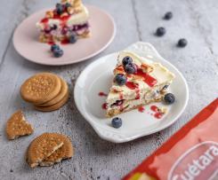 cheesecake de mascarpone y arándanos con galletas Cuétara