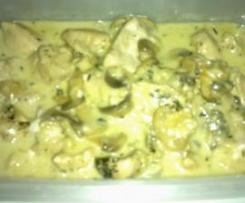 Pollo a la sidra.