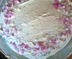 Tarta de zanahoria con cobertura de crema