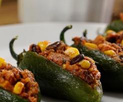 Receta Jalapeños Rellenos de Frijol con Chorizo