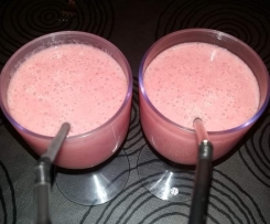 Smoothie de Yogurt con Platano y Fresa