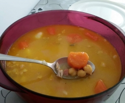 Cocido de garbanzos light