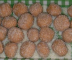 bolitas de coco con sorpresas