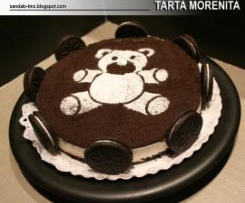 TARTA MORENITA (de galletas tipo Oreo del LID´L)
