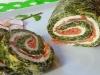 Rollo de Espinacas con Queso y Salmón (Thermomix)